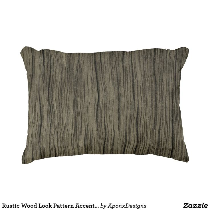 Rustic Wood Look Pattern Accent Pillow