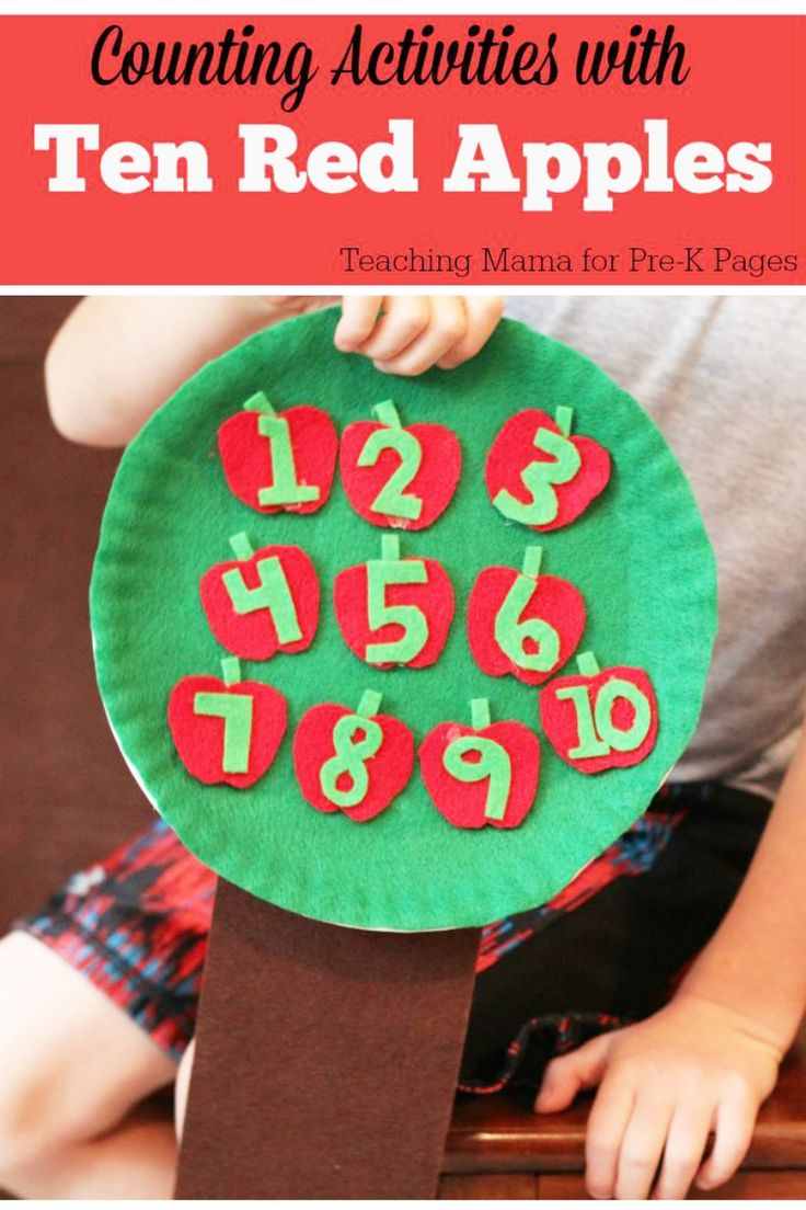 Ten Red Apples: Counting Activity for Preschool. A fun, hands-on counting activity that will help make learning to count meaningful and FUN for young children in preschool and kindergarten. Inspired by the book Ten Red Apples by Pat Hutchins.