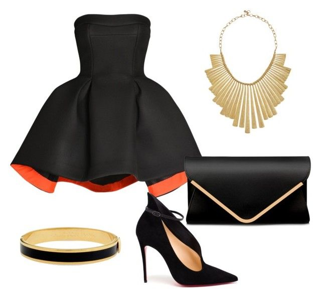 """""""Rough & chic"""" by estebban-aguila on Polyvore featuring moda, Parlor, Christian Louboutin, Lucky Brand, Halcyon Days y FashionEnthusiast"""
