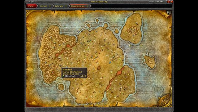 World of Warcraft Gold Guide: World of Warcraft: Copper Ore: Bloodmyst Isle