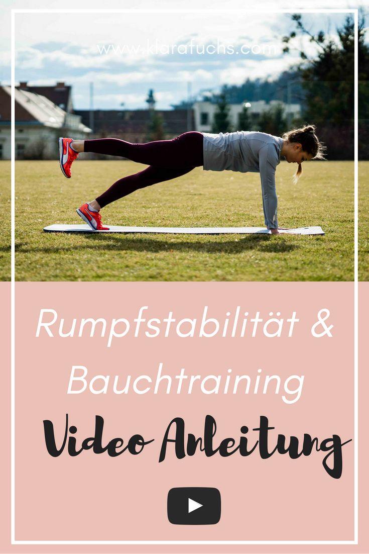 Video: Rumpfstabilität und Stärkung der Bauchmuskulatur - Warum diese Übungen wichtig sind? Weil sie deine Haltung verbessern, deinen Laufstil verbessern können und dich athletischer machen und auf alle weiteren, schwierigen Übungen vorbereiten. Stärke deinen Rumpf, Rücken und die Bauchmuskulatur. Diese Übungen sind einfach und können überall, auch daheim im Wohnzimmer, gemacht werden. / Klara Fuchs