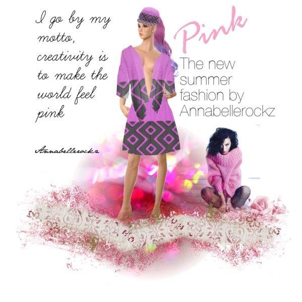 Annabellerockz shows her pink pattern summer designs by annabelle-h-ringen-nymo on Polyvore featuring Summer, skirt, baseball, kimono and Annnabellerockz