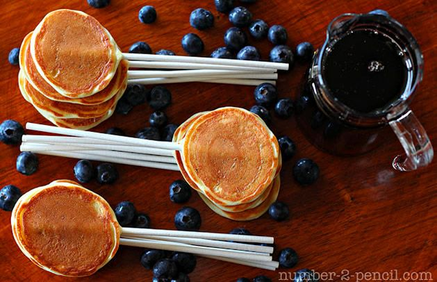 Pancakes on a StickBirthday Breakfast, Pancakes Pop, Bites Size, Food, Sticks, Fathers Day, Kids, Breakfast Recipe, Breakfast Parties