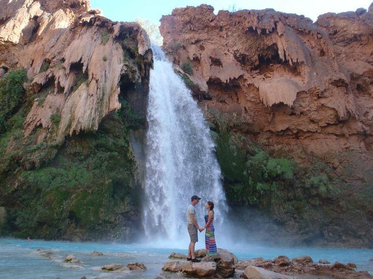Havasu Falls, Grand Canyon on the Havasupai Indian Reservation.