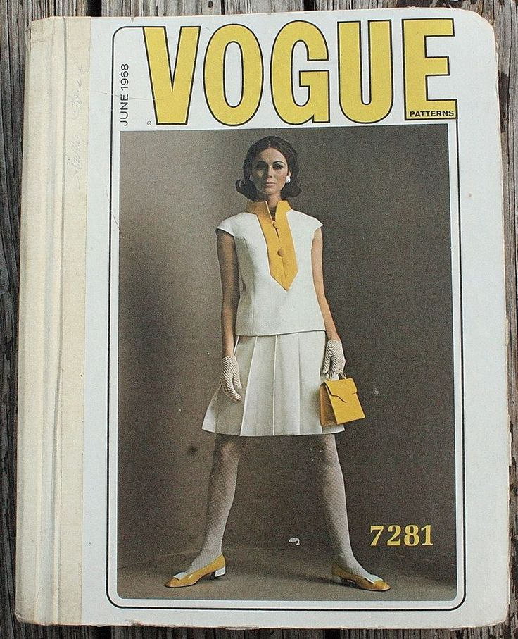 Vintage Vogue Pattern Book Counter Catalog 60s Paris Couturier Ricci Dior 1960s