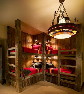 Bunk Room - love the light