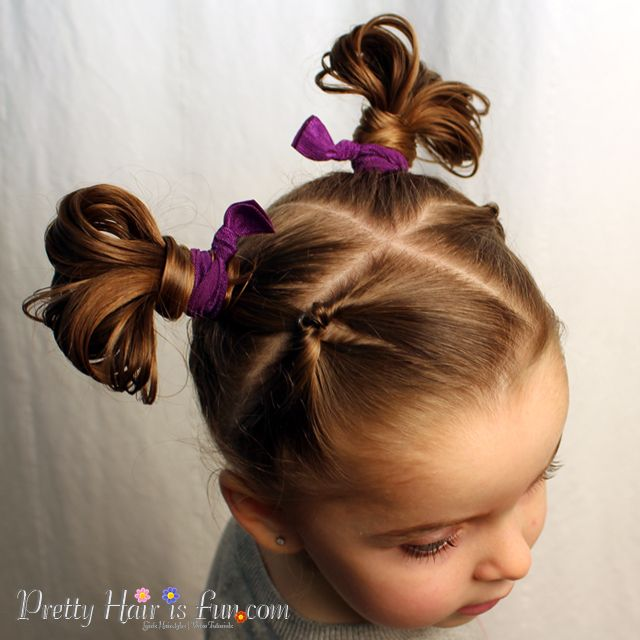 Pretty Hair Is Fun How To Do Fan Buns Easy Toddler Hairstyle Hair