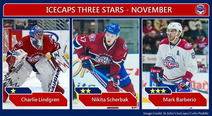 St. John's IceCaps' Three Stars for November #icecaps #three #stars #november