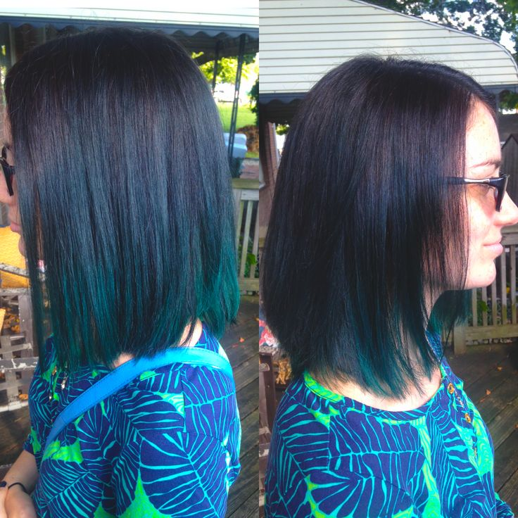 Dark Brown To Teal Ombre Ombre Tealhair