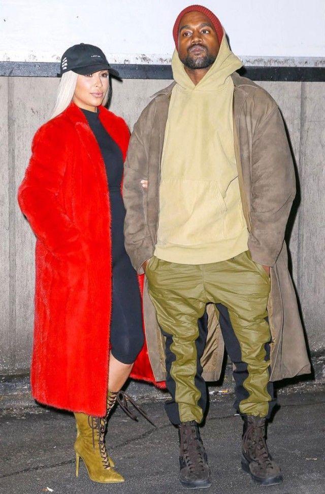 Kanye West in full Yeezy Season 3