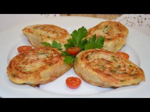 Рулетики из лаваша с картофелем и колбасой. _Lavash rolls with potatoes and sausage