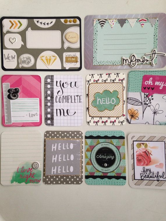 Handmade project life cards Beautiful pinks by CodisCustomCards