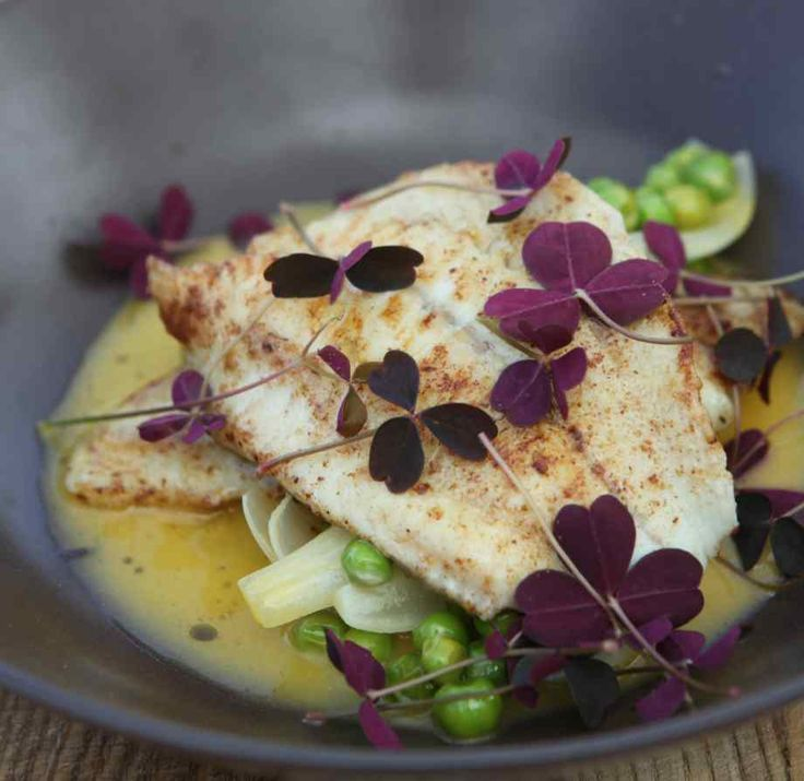 Turbot and sea buckthorn Nordic Cookery