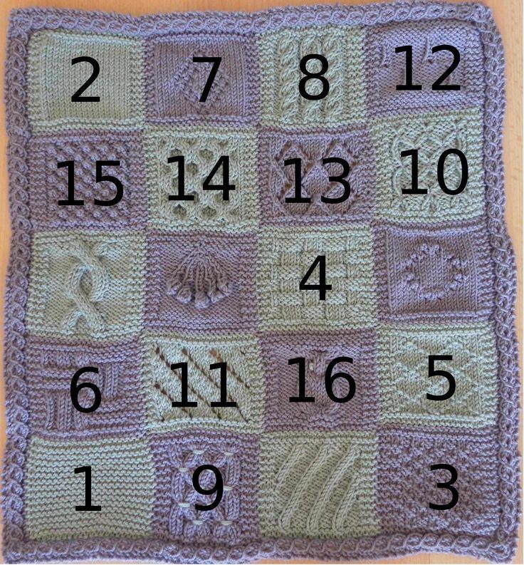 KAL boucle d'or version poupée : carré 16