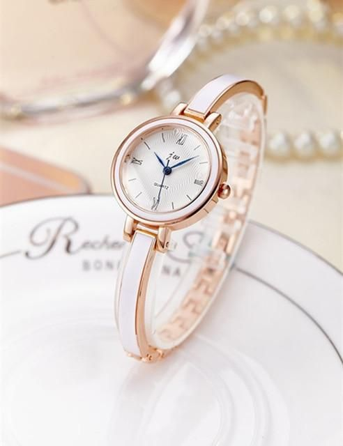 7398308945a JW Rose Gold Quartz Watch Women Clock Luxury Brand Stainless steel Bracelet  watches Ladies Dress Crystal Wristwatches relogio
