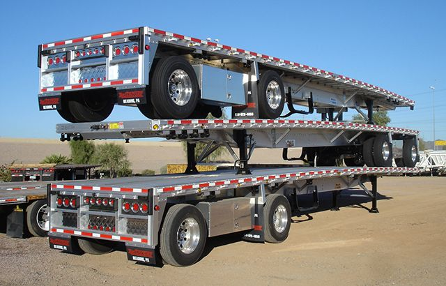 Aluminum flatbed semi trailer sales for Sale | Midco Sales - Heavy ...
