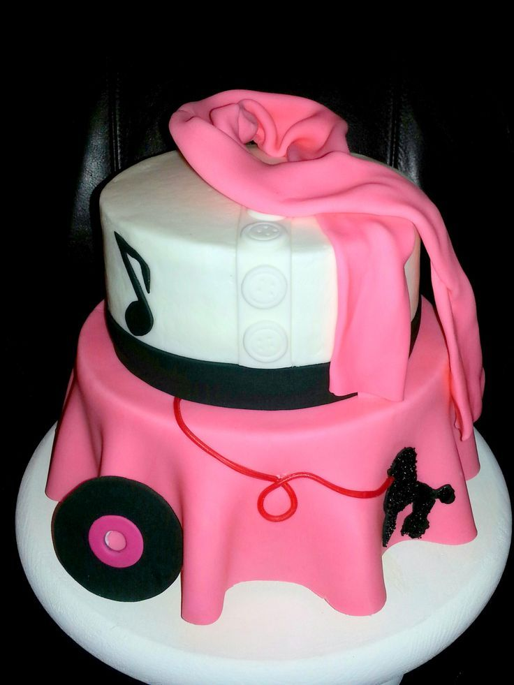 50's themed cakes | Movie Grease Themed 50's Poodle Skirt Cake