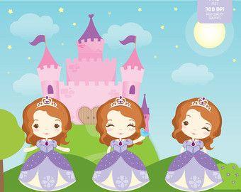 Princesses 01 Clipart Set Instant Download PNG Files. by araqua
