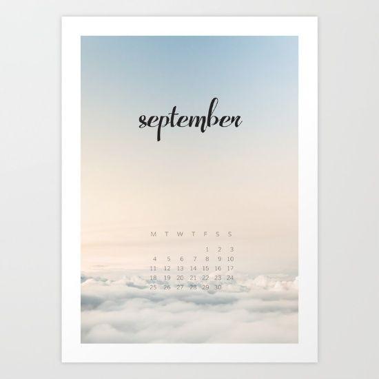 September 2017 Calender Art Print