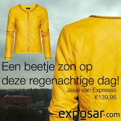 Een  beetje zon op deze regenachtige dag! #geel #zon #fashion #mode #shopping #amsterdam #exposar #webshop