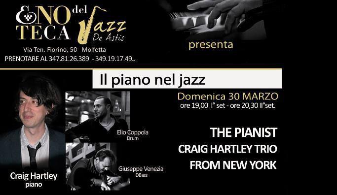 Craig Hartley in #concerto con Giuseppe Venezia e Elio Coppola all'Enoteca del Jazz di #Molfetta (Ba) domenica 30 Marzo 2014.