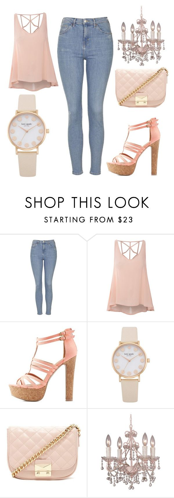 """this pretty girl"" by jjbear ❤ liked on Polyvore featuring Topshop, Glamorous, Charlotte Russe, Forever 21 and Crystorama"