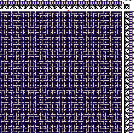 Weaving Draft for Acrylic/Wool Sample