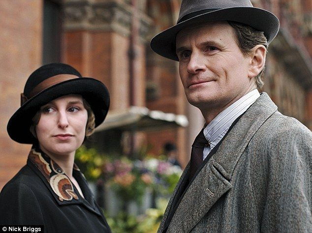 Courting: Lady Edith Crawley (Laura Carmichael) spends most of her time in London being pursued by her editor Michael Gregson (Charles Edwar...