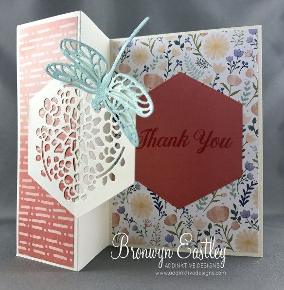 Daisy Delight, Window Box Thinlits, Detailed Dragonfly Thinlits, Bronwyn Eastley, Independent Stampin' Up! Demonstrator, Australia, #addinktivedesigns