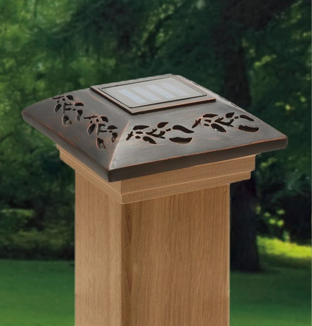 Designer Metal Solar Post Caps From Maine Ornamental®: Post Cap, Decorative Post  Cap, Custom Deck Design, Decorative Post Caps