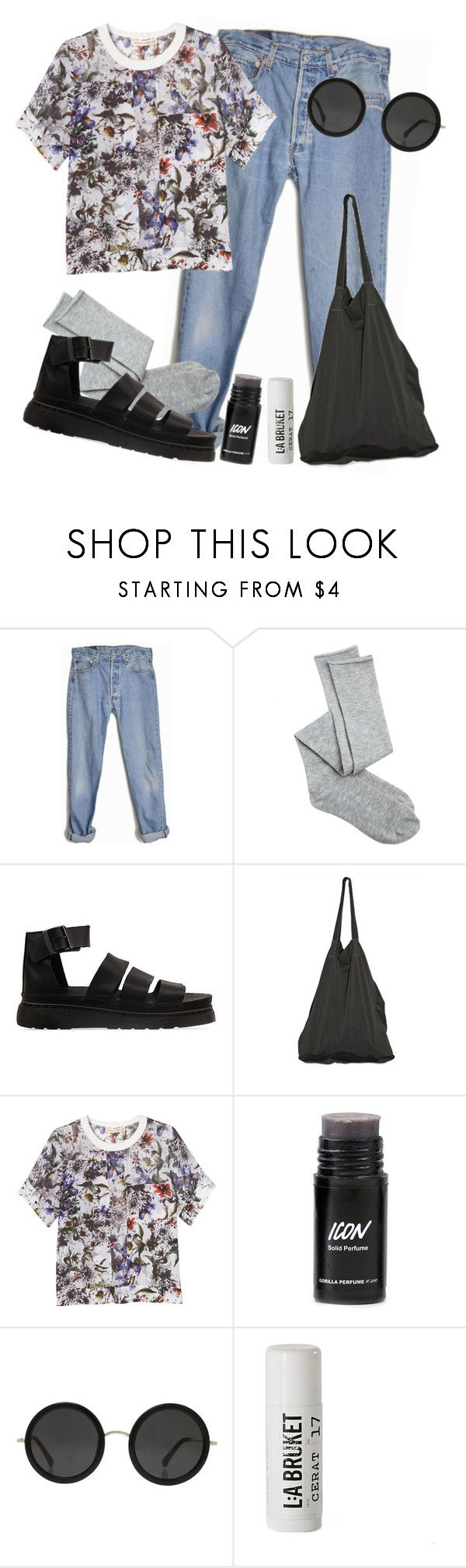 """""""#113"""" by collyn-luca on Polyvore featuring Levi's, Charlotte Russe, Dr. Martens, Laneus, Rebecca Taylor, The Row and L:A Bruket"""