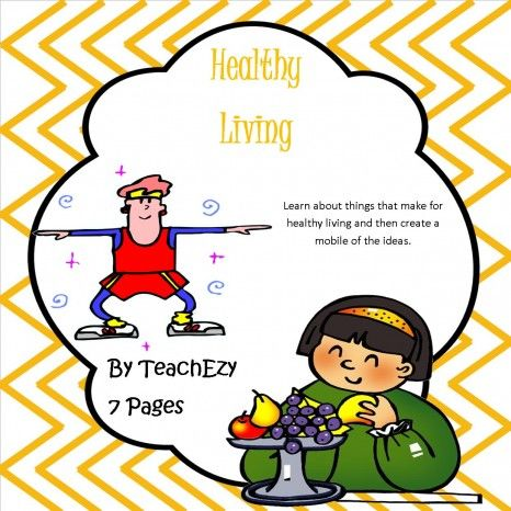 Healthy Living. Teaching kids about healthy choices with this resource and then make a fun mobile craft activity of all the healthy living ideas. www.teachezy.com