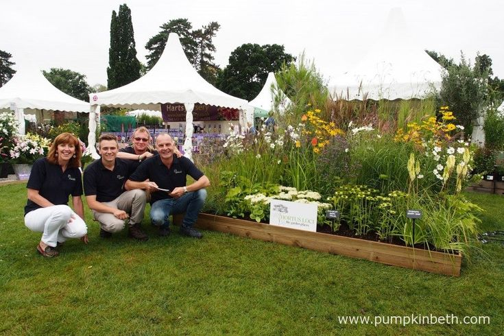 The lovely team from Hortus Loci with their stand at the RHS Wisley Flower Show…