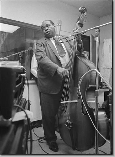 The great Willie Dixon in the Chess records studio....