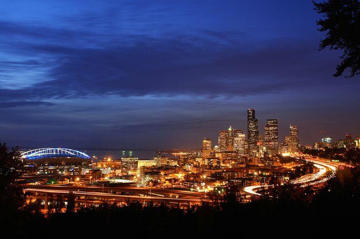 Seattle at Night From Jose Rizal Park | by David M Hogan