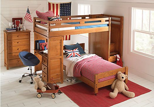 Shop for a Creekside Taffy  Twin Twin Step Bunk Bedroom w Desk at Rooms To Go Kids. Find  that will look great in your home and complement the rest of your furniture. #iSofa #roomstogo