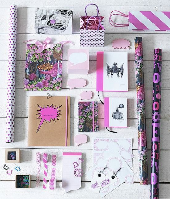 Pink Ikea stationery - LOVE!