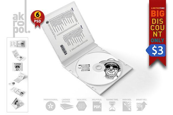 CD Case & Disc Mock-ups by akropol on @creativemarket