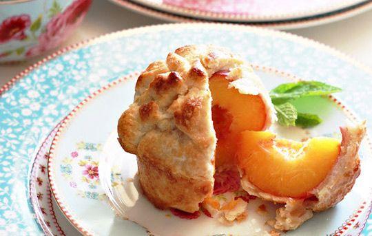 Individual Whole Peach Pies