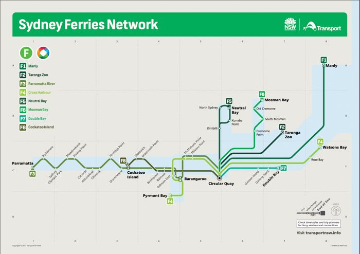 Sydney Ferries Map 7 Awesome Day Trips On Sydney Harbour Ferries | Eastern Australia