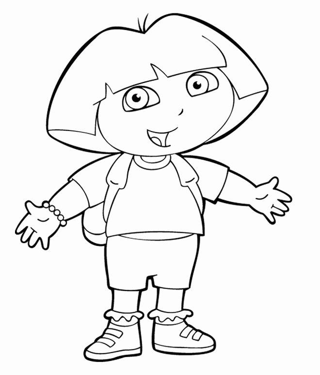 24 Dora The Explorer Coloring Page In 2020 Cartoon Coloring
