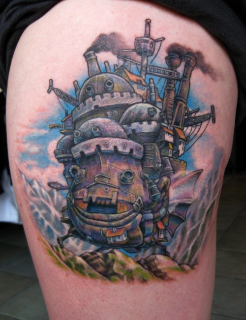 Howl's moving castle tattoo
