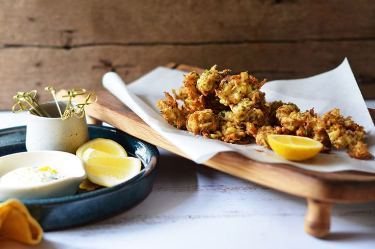 Dukkah and Zucchini Fritters with Tarragon Yoghurt Dressing - Maggie Beer