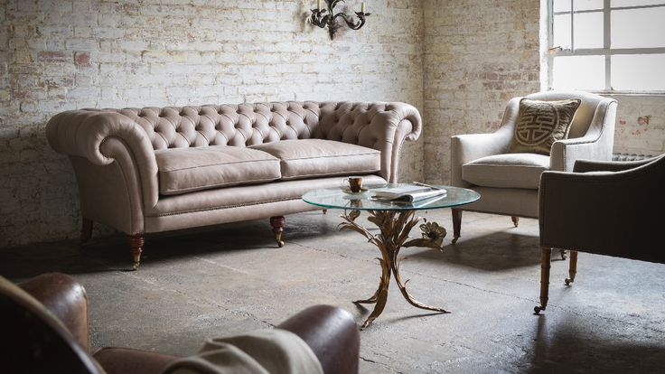 The Grenville is a timeless classic. The original Chesterfield sofa is believed to originate from one commissioned circa 1830 by Phillip Stanhope, the 4th Earl of Chesterfield. The deep buttoning, firm and supportive hand springing, and generous scrolling arms and back create an instantly recognisable English design icon.