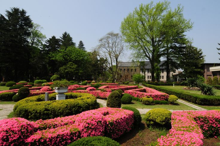 本学フランス式庭園(宇都宮大学庭園)