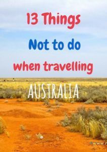 13 things not to do when visiting Australia