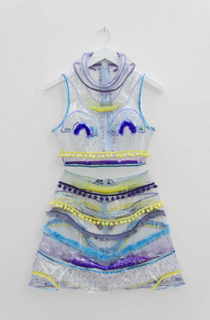 Garments with water and oil filled pockets by Laura King in the Textiles, Fashion and Design for Performance Pathway section of the Foundation Diploma in Art & Design end of year show 2014 at Leeds College of Art. #KnockKnockArt