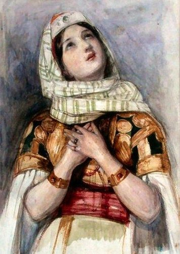 John Frederick Lewis (British, 1804-1876), A Young Lady in Turkish Dress