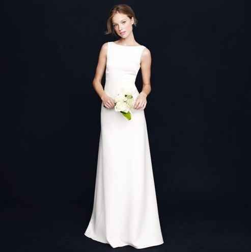 "J. Crew ""Percy"" Gown, $650 | 36 Elegant Minimalist Wedding Dresses"