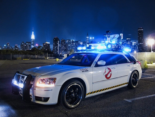 Dodge magnum, ectomobile.    They should make a new Ghostbusters and this schools be there car